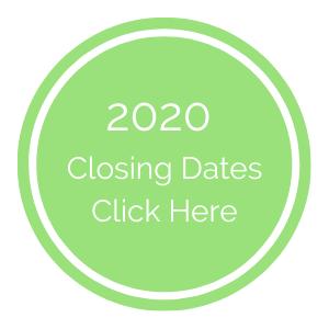 2020 Closing Dates